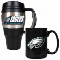 Philadelphia Eagles Travel Mug & Coffee Mug Set
