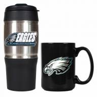 Philadelphia Eagles Travel Tumbler & Coffee Mug Set