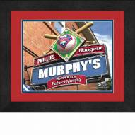 Philadelphia Phillies 13 x 16 Personalized Framed Sports Pub Print
