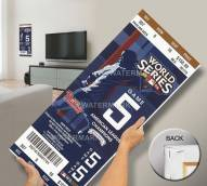 Philadelphia Phillies 2009 World Series Mega Ticket Canvas Art