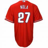 Philadelphia Phillies Aaron Nola Replica Scarlet Alternate Baseball Jersey