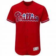 Philadelphia Phillies Authentic Scarlet Alternate Baseball Jersey