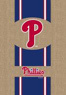 Philadelphia Phillies Burlap Garden Flag
