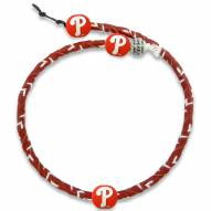 Philadelphia Phillies Frozen Rope Color Baseball Necklace