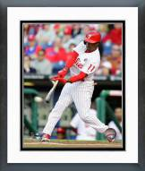 Philadelphia Phillies Jimmy Rollins 2014 Action Framed Photo