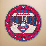 Philadelphia Phillies MLB Stained Glass Wall Clock