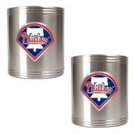 Philadelphia Phillies MLB Stainless Steel Can Holder 2-Piece Set