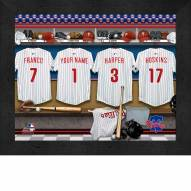 Philadelphia Phillies Personalized Locker Room 11 x 14 Framed Photograph