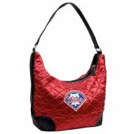 Philadelphia Phillies Quilted Hobo Handbag