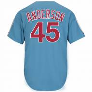 Philadelphia Phillies Sparky Anderson Cooperstown Columbia Blue Replica Baseball Jersey