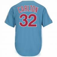 Philadelphia Phillies Steve Carlton Cooperstown Columbia Blue Replica Baseball Jersey