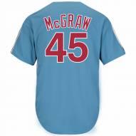 Philadelphia Phillies Tug McGraw Cooperstown Columbia Blue Replica Baseball Jersey