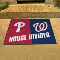 Philadelphia Phillies/Washington Nationals House Divided Mat