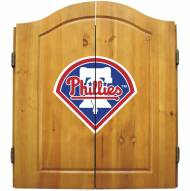 Philadelphia Phillies Dart Board Cabinet Set