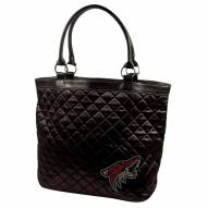 Phoenix Coyotes Sport Noir Quilted Tote