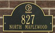 Pittsburgh Steelers NFL Personalized Address Plaque - Black Gold