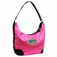 Pittsburgh Panthers Pink NCAA Quilted Hobo Handbag