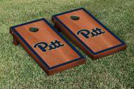 Pittsburgh Panthers Rosewood Stained Border Cornhole Game Set