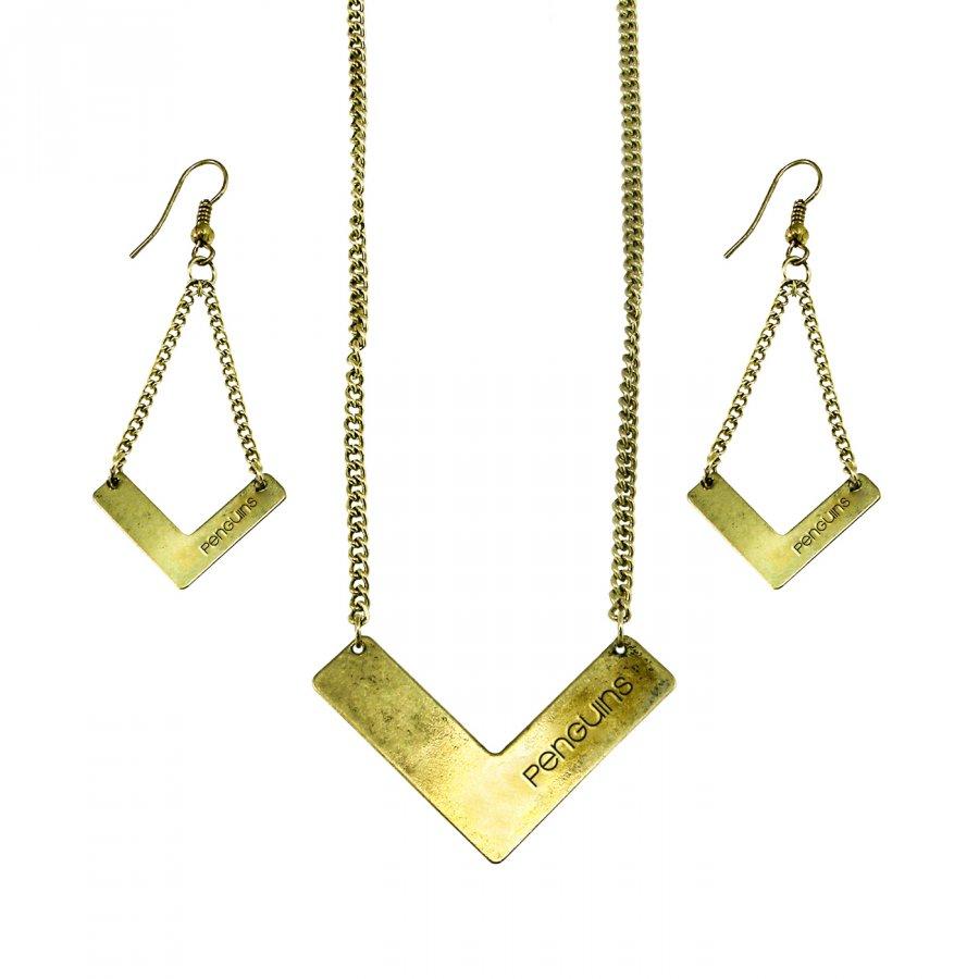 Pittsburgh Penguins Chevron Jewelry Set