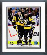 Pittsburgh Penguins Evgeni Malkin & Kris Letang 2014-15 Framed Photo
