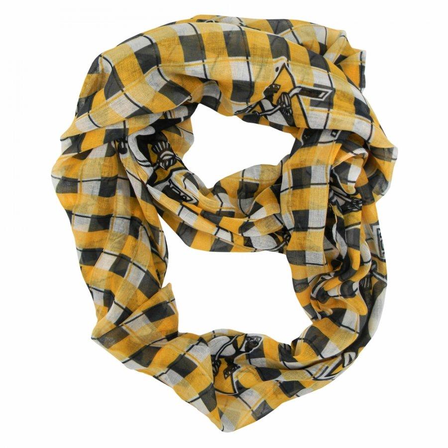 Pittsburgh Penguins Plaid Sheer Infinity Scarf