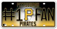 Pittsburgh Pirates #1 Fan License Plate