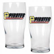 Pittsburgh Pirates 20 oz. Pub Glass - Set of 2
