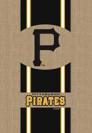 Pittsburgh Pirates Burlap Flag