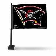Pittsburgh Pirates Car Flag with Black Pole