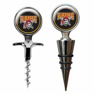 Pittsburgh Pirates Cork Screw & Wine Bottle Topper Set