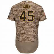 Pittsburgh Pirates Gerrit Cole Authentic Camo Alternate Baseball Jersey