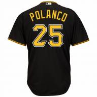Pittsburgh Pirates Gregory Polanco Replica Black Alternate Baseball Jersey