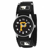 Pittsburgh Pirates P Logo Black Rookie Kids Watch
