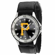 Pittsburgh Pirates P Logo Veteran Velcro Mens Watch