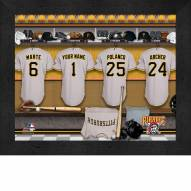 Pittsburgh Pirates Personalized Locker Room 11 x 14 Framed Photograph
