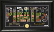 Pittsburgh Pirates Silhouette Bronze Coin Panoramic Photo Mint