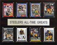 "Pittsburgh Steelers 12"" x 15"" All-Time Greats Plaque"