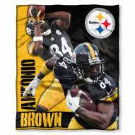 Pittsburgh Steelers Antonio Brown Silk Touch Blanket