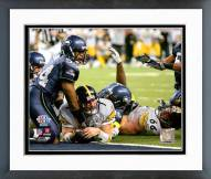 Pittsburgh Steelers Ben Roethlisberger Super Bowl XL 2006 Action Framed Photo
