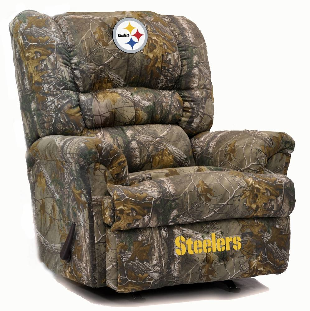 Designed For The Big And Tall Fan, The Pittsburgh Steelers Big Daddy Camo  Recliner Will Be Your Go To Chair For Every Game This Season!