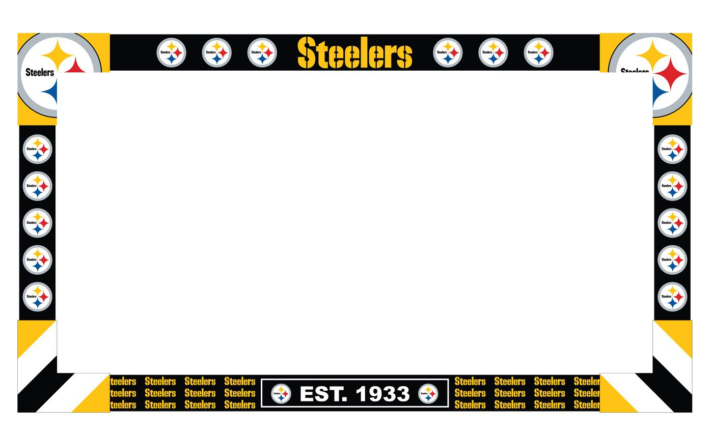 the pittsburgh steelers big game tv frame is the perfect way to get everyone pumped for the big game this colorful team logo frame is designed to fit tvs