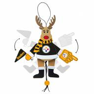 Pittsburgh Steelers Cheering Reindeer Ornament