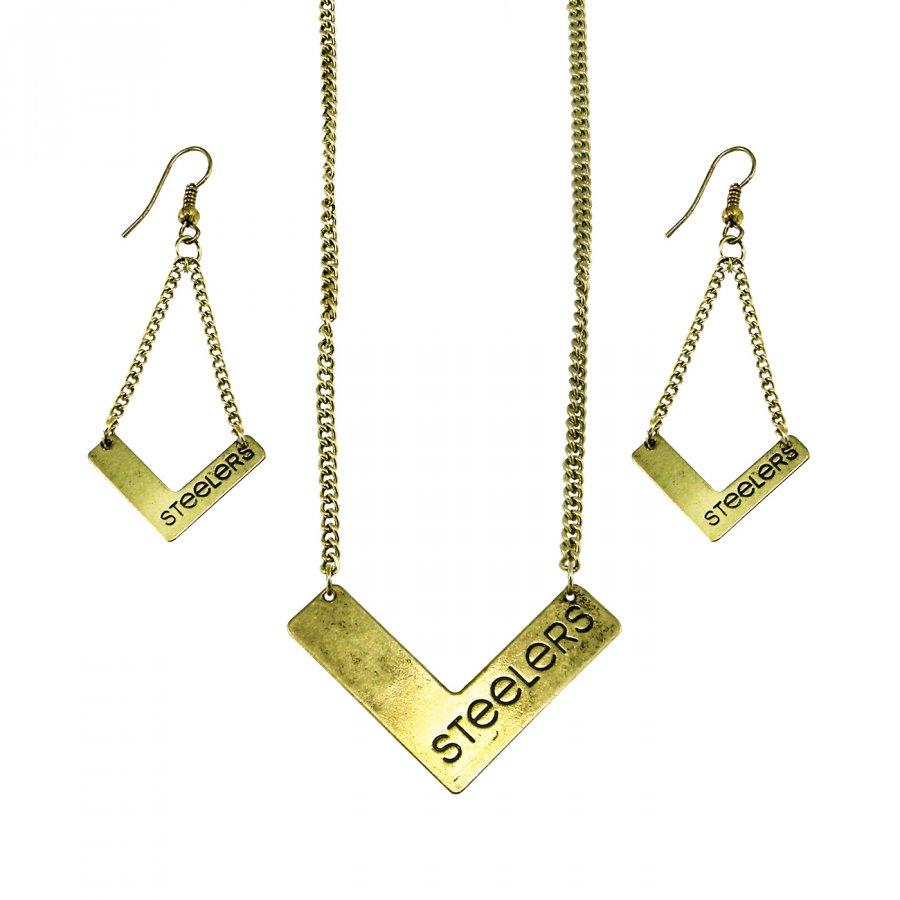 Pittsburgh Steelers Chevron Jewelry Set