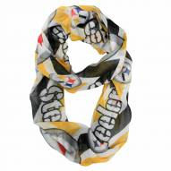Pittsburgh Steelers Chevron Sheer Infinity Scarf