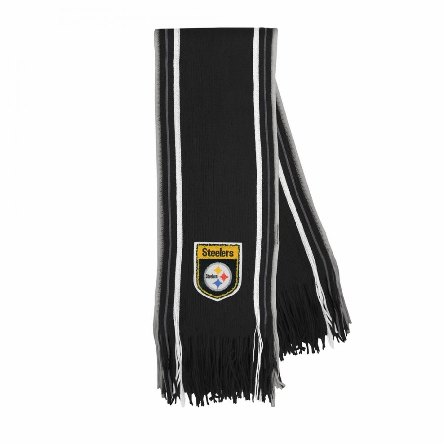 Pittsburgh Steelers Crest Stripe Fringe Scarf