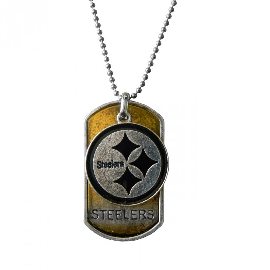 Pittsburgh Steelers Dog Tag Charm Necklace