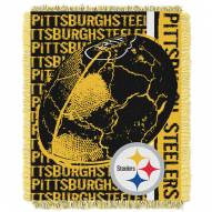 Pittsburgh Steelers Double Play Jacquard Throw Blanket