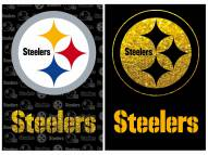 Pittsburgh Steelers Double Sided Glitter Garden Flag