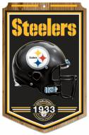 "Pittsburgh Steelers ""Established"" Wood Sign"