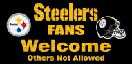 Pittsburgh Steelers Fans Welcome Wood Sign